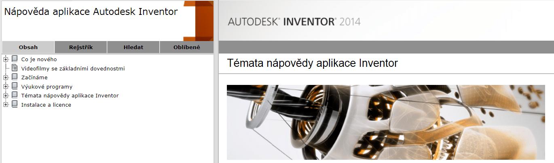 Autodesk Inventor - lokální nápověda