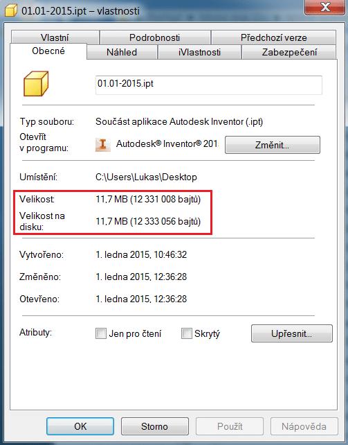 Velikost souboru