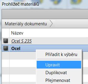 PROHLIZEC MATERIALU -UPRAVIT