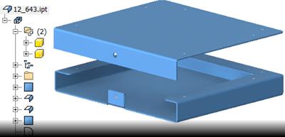 Inventor 2016 - Multi-tělesa u plechu