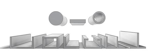 Základní hliníkové profily