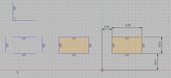 Fusion360 - Plně zaazbení náčrt