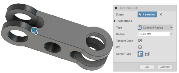 Fusion360 Create Fillet