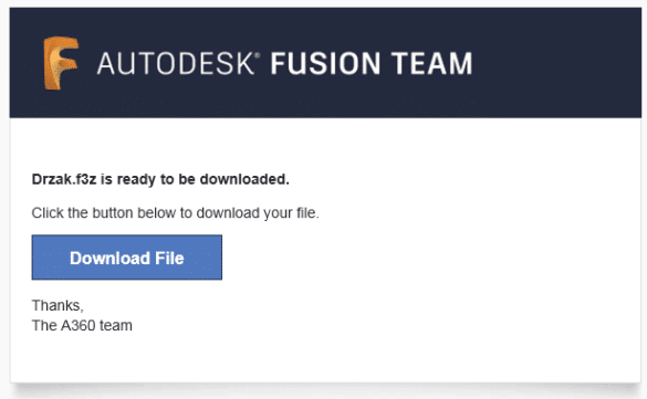 Fusion 360 TEAM email