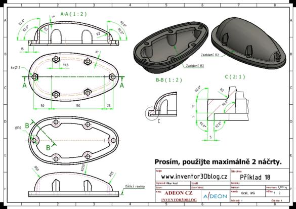Autodesk Inventor příklad 18