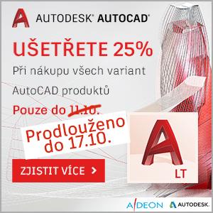 Sleva 25% na všechny AutoCAD produkty