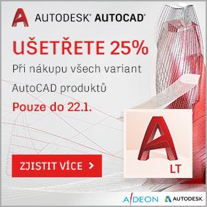 Sleva 25% na AutoCAD produkty
