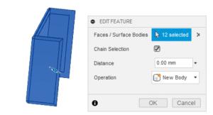 Fusion 360 použití nástroje Offset