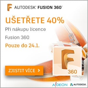 Sleva 40% na licenci Fusion 360