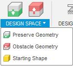 Fusion 360 generative design space
