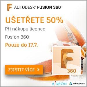 Sleva 50% na licenci Fusion 360
