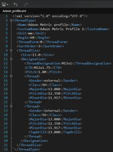 Fusion 360 xml vlastni uzivatelsky zavit