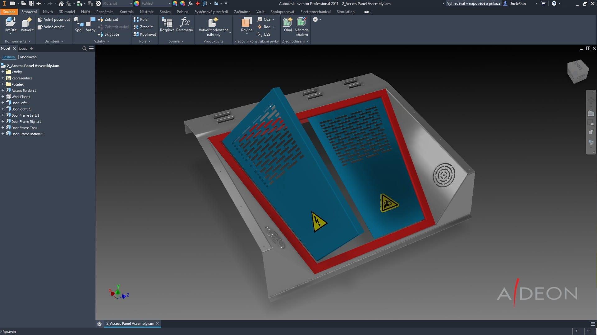 Autodesk Inventor - plechové součásti