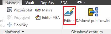 Editor obsahového centra