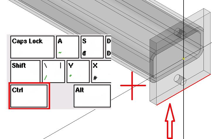Podržení klávesy CTRL