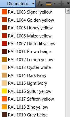 RAL barvy